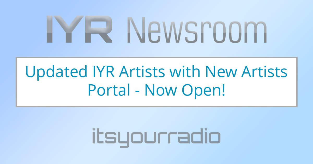 Updated IYR Artists with New Artists Portal - Now Open!